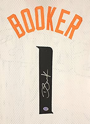 Devin Booker Phoenix Suns Signed Autographed White #1 Jersey COA