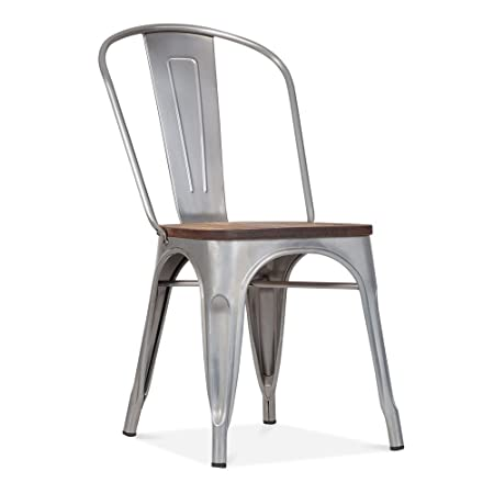 Xavier Pauchard xavier pauchard tolix style metal side chair with wood seat option
