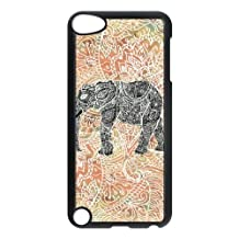 iPod Touch 5 Case Black Tribal Paisley Elephant Colorful Henna Patter WH9497092