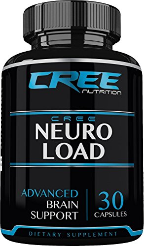 CREE Nutrition Neuro Load, Extra Strength -Energy- Brain Supplement for Focus, Clarity & Memory- Mental Performance Nootropic - Brain Booster Formulated with Super Ginkgo Biloba, St Johns Wort, & More by CREE Nutrition