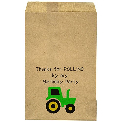 Birthday Thank You Favor Bag - Tractor -