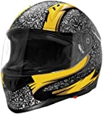Sparx Tracker El Jefe Helmet, Distinct Name: El Jefe, Primary Color: Yellow, Helmet Type: Full-face Helmets, Helmet Category: Street, Size: 2XL, Gender: Mens/Unisex 843715