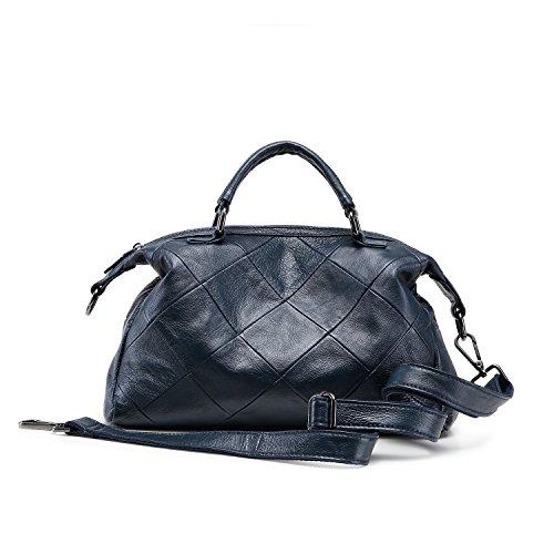 Lujo Handbag Genuino Marrón Soft Nuevo 100 Bolso Capacidad Diseñador Mujer Azul Mano Lady Aassddff De Marca Gran Daily AU8wRnq