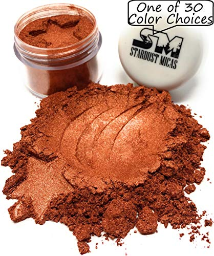 - Stardust Mica Metallic Micas Pigment Powder Cosmetics Grade for Soap Making, Epoxy Resin, Makeup, Coloring Slime, Bright True Colors Stable Mica Colorant Copper Nugget