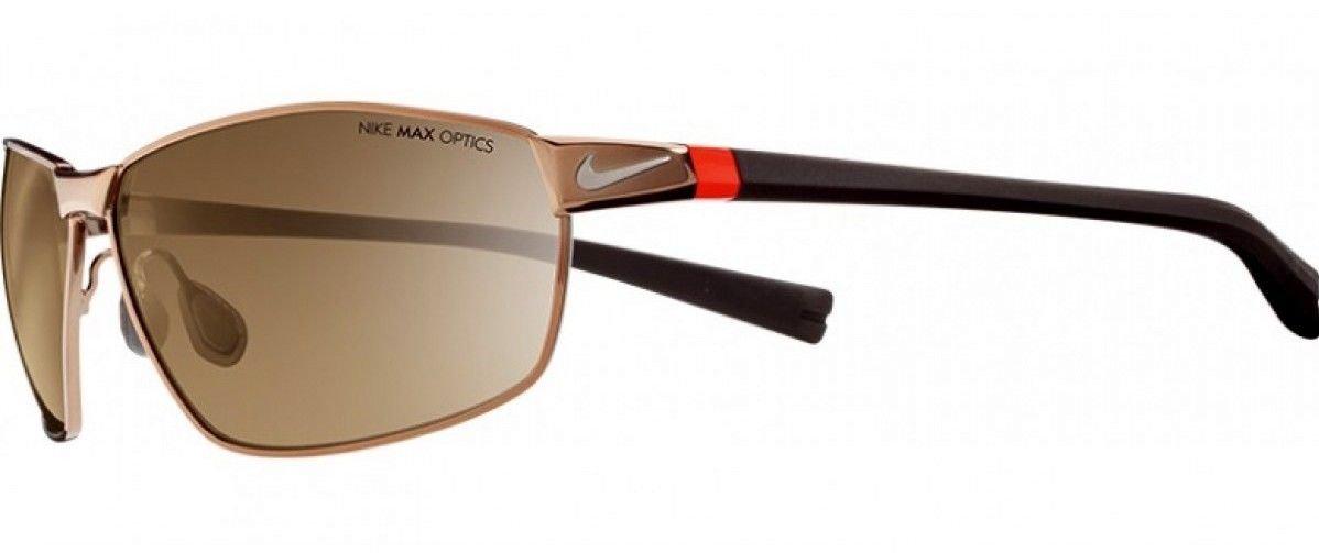 NIKE Stride Sunglasses, Walnut/Classic Brown, Brown Lens