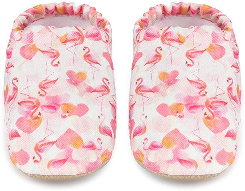 Baby On The Go First Steps Slip-On Baby Slipper, Flamingo