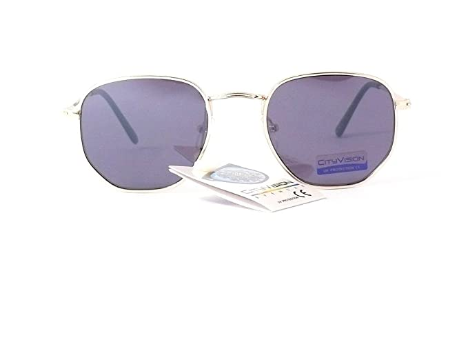 lunettes de soleil mode 2018 2019 cityvision homme femme 015317 (monture or  verres gris)  Amazon.fr  Vêtements et accessoires ffbe1b7eadbc