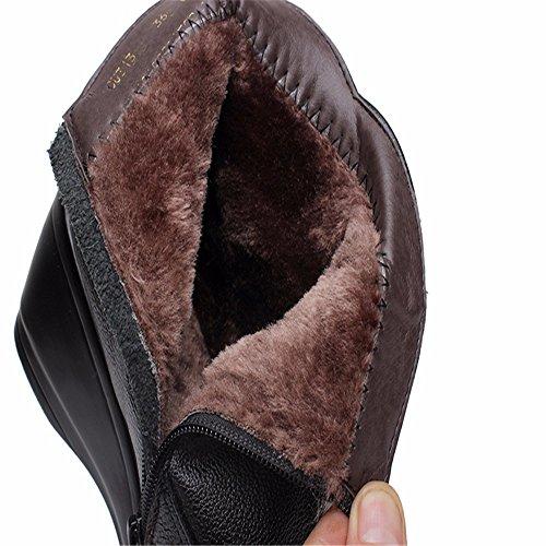 HXVU56546 Neue Herbst Und Winter Baumwolle Schuhe Kunstleder Hang Mit Hohem Baumwolle Größe Gepolsterter black