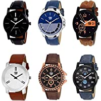 Swadesi Stuff Analogue Multicolor Dial Boy's/Girl's & Men's/Women's Combo Of 6 Watch - Mitul Combo Of 6
