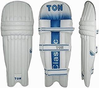 tonne de cricket Jambières classique–Blanc/Bleu–ados (Ambi) Ton Cricket