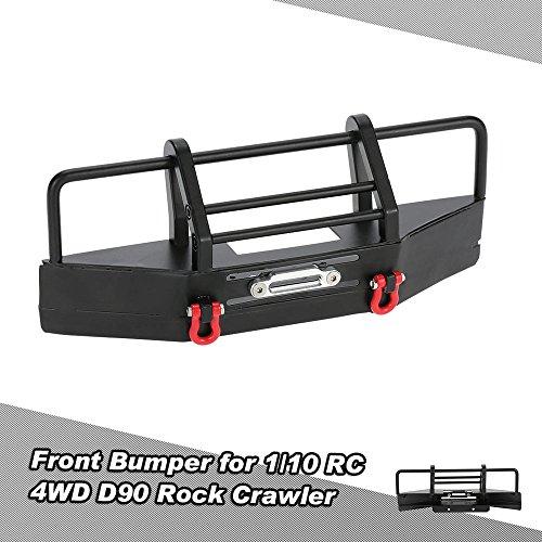 Goolsky Amortecedor dianteiro do metal com a curvatura do reboque para 1/10 RC4WD D90 Axial SCX10 RC Rock Crawler