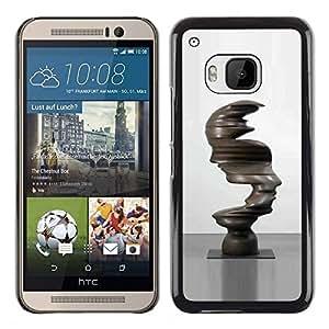 Caucho caso de Shell duro de la cubierta de accesorios de protección BY RAYDREAMMM - HTC One M9 - Art Faces Statue Figure Iron