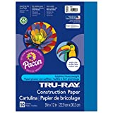 Office Products : Pacon Tru-Ray Construction Paper, 9-Inches by 12-Inches, 50-Count, Blue (103022)