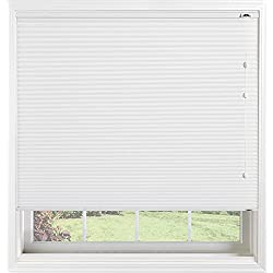 "Bali Blinds 3/8"" Custom Light Filtering Cellular Shade with Cord Lift, Double Cell Daybreak II Crystal, 46"" x 58"""