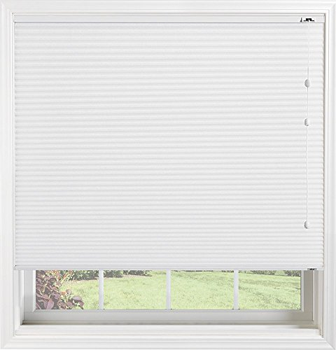 tom Light Filtering Cellular Shade with Cord Lift, Double Cell Daybreak II Crystal, 46