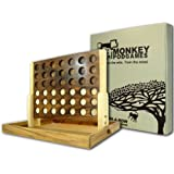 Monkey Pod Games Extra Large Wooden Four In a Row Game