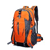 Mingfa Unisex Hiking Backpack 40L Waterproof Lightweight Trekking Rucksack for Outdoor Sport Travel Cycling Climbing Mountaineer Climbing (orange)