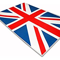 LKEY Microfiber Union Jack Two Size 39x59, 59x78 Non-slip Area Rug Carpet (39x59)