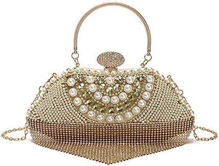ハンドバッグ - チェーンタッセルイブニングバッグ、ダイヤモンドパッケージ気質輝く真珠、ダイヤモンド宴会ポータブルショルダーバッグ、小さな財布 よくできた