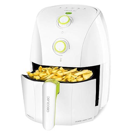 Cecotec Freidora Dietetica sin Aceite Cecofry Compact Rapid White. Cocina sin Aceite, Temperatura ajustable hasta 200ºC, Temporizador 30min, Capacidad ...