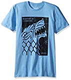 HBO Game Of Thrones Men's House of Stark Short Sleeve T-Shirt, Blue, X-Large