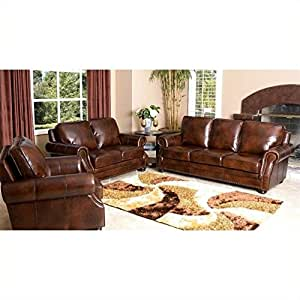 amazon living room furniture abbyson living karington 3 rubbed 12056
