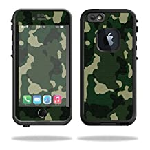 Mightyskins Protective Vinyl Skin Decal Cover for Lifeproof iPhone 6/6S Case fre Cover wrap sticker skins Green Camo