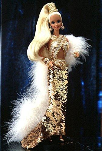 Bob Mackie Gold Barbie Doll W/case, 1990 by Bob Mackie by Bob Mackie