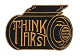 Asilda Store Think First Camera Film Roll Embroidered Sew or Iron-on Patch