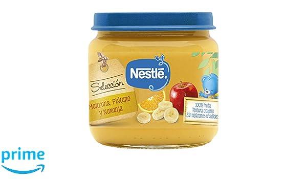 NESTLÉ SELECCIÓN tarrito de puré de fruta, variedad Manzana, Plátano y Naranja, para bebés a partir de 4 meses - Paquete de 6 tarritos de 190 g: Amazon.es: ...