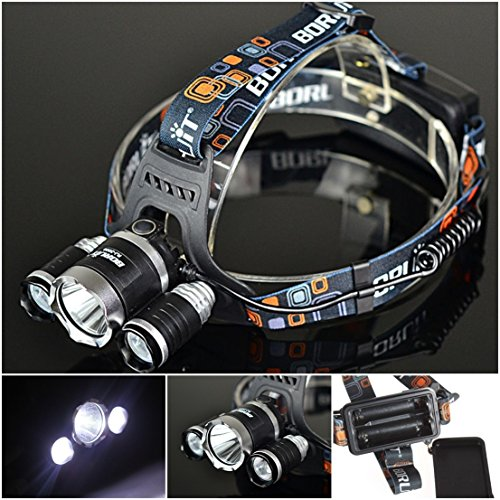 Exceptional Popular 4 Modes 3x LED 5000 Lumen Headlamp Tactical Torch Headlight Color Black with Battery Charger (Ar15 To 22 Conversion Kit)