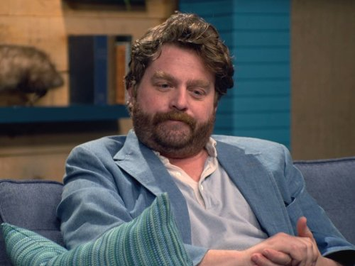 Price comparison product image Zach Galifianakis Wears A Blue Jacket & Red Socks