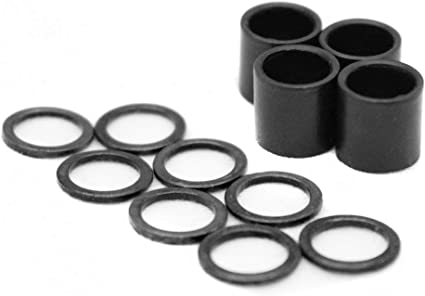 100 Pieces Speed Washers Rings with 2 Pieces Spacers for Skateboard Bearing
