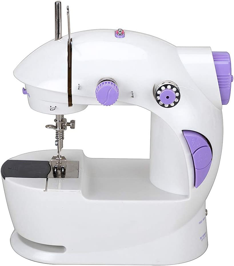 Small Household Electric Sewing Machines with Two Speed CL-035-G Chooling Mini Sewing Machine 2 Speeds, LED Sewing Light, Foot Pedal