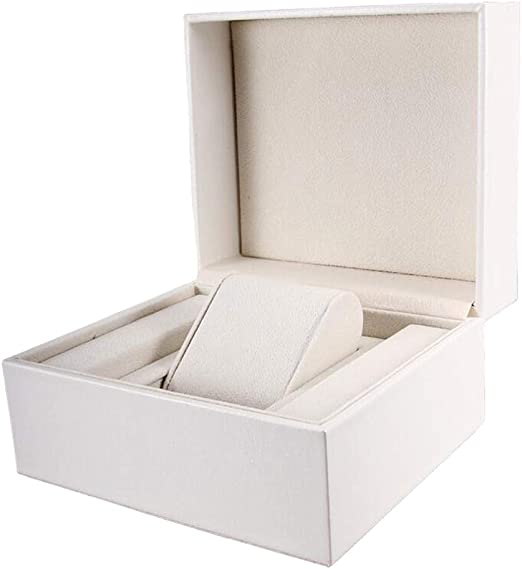 P Prettyia Caja de Almacenamiento de PU Accesorios de Tiendas para Reloj y Joyas Color Blanco: Amazon.es: Hogar