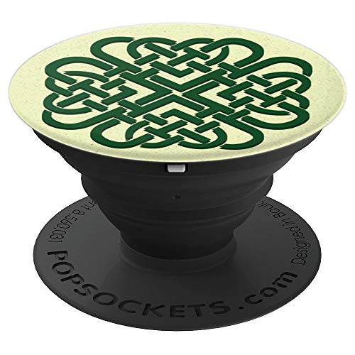 Green Celtic Irish Ireland Knot Symbol Spiral - PopSockets Grip and Stand for Phones and Tablets
