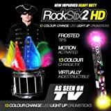 Pair Of ROCKSTIX 2 HD COLOR CHANGE, BRIGHT LED LIGHT UP DRUMSTICKS, 13 Amazing Color FX, with fade effect, Set your gig on fire!