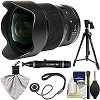 Sigma 20mm f/1.4 Art DG HSM Lens for Nikon Digital SLR Cameras with 61 Pistol Grip Tripod + Kit