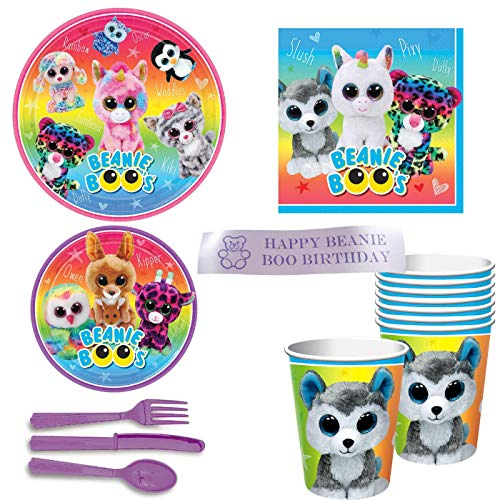 Beanie Boos Party Supplies With Plates, Napkins, Cups, for sale  Delivered anywhere in USA