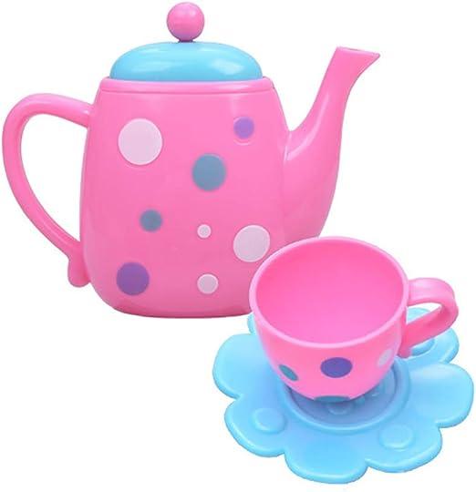 Livecity Kid Tea Party Set 16 St/ücke Simulation Kinder Tea Party Teekanne Tasse Pretend Play K/üche Spielzeug Set Zuf/ällige Farbe