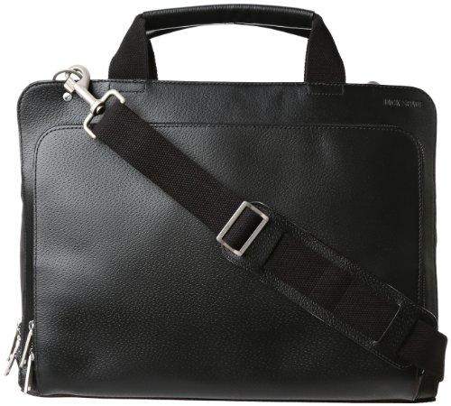 - Jack Spade Boarskin and Nylon Split Brief Laptop Bag Black 2 One Size