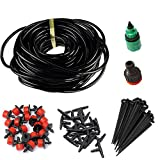 KitsPro Watering Drip Irrigation System - DIY Automatic Drip Irrigation Kit with 1/4'' Blank Distribution Tubing for Garden Greenhouse, Flower Bed,Patio,Lawn