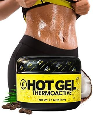 Hot Vita Thermogenic Enhanced Sweat Gel - Slimming Workout Coconut Body Cream