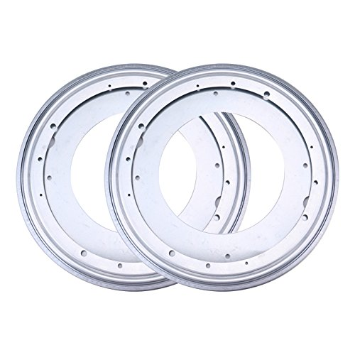 - Fasmov 12-inch Lazy Susan 5/16 Thick Turntable Bearings 6 Rubber Pads, Pack of 2