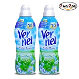 1Set (2ea) Vernel Concentrated Fabric Softener Fresh Morning(formally BlueSky) - 1L (appr 28 Loads)
