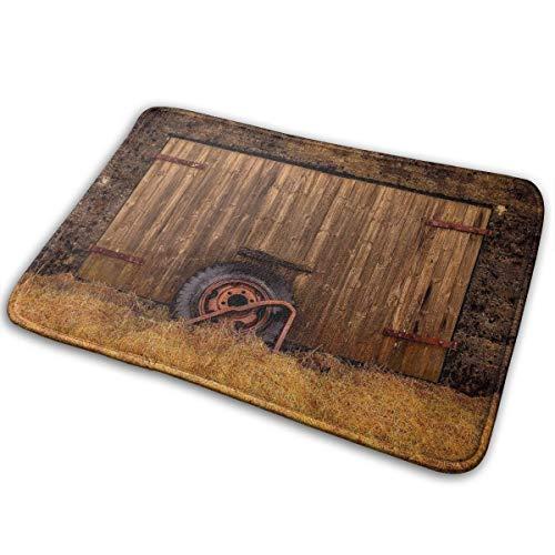 Ziemxjdska Barn Shed Tire Farm Building Doormats Entrance Mat Floor Mat Door Mat Rug Indoor/Outdoor/Front Door/Bathroom Mats Rubber Non Slip (16x24 Inch)