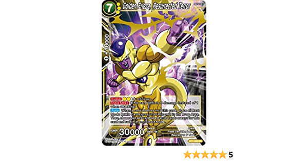 Carte Dragon Ball Super GOLDEN FREEZER LA TERREUR RESSUS BT1-086 SR DBZ FR NEUF