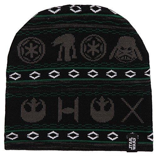 Star Wars Holiday Print Jacquard Knit Beanie (Beanie Print Winter)