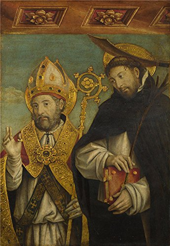 'Giovanni Martino Spanzotti Saint Peter Martyr And A Bishop Saint (Saint Evasio) ' Oil Painting, 18 X 26 Inch / 46 X 66 Cm ,printed On Polyster Canvas ,this Replica Art DecorativeCanvas Prints Is Perfectly Suitalbe For Garage Decor And Home Artwork And Gifts (Six Flags Season Pass 2015 compare prices)