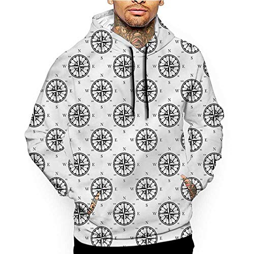 Hoodies Sweatshirt Men 3D Print Nautical,Cartoon Nautical Figures,Sweatshirts for Women Hoodie -